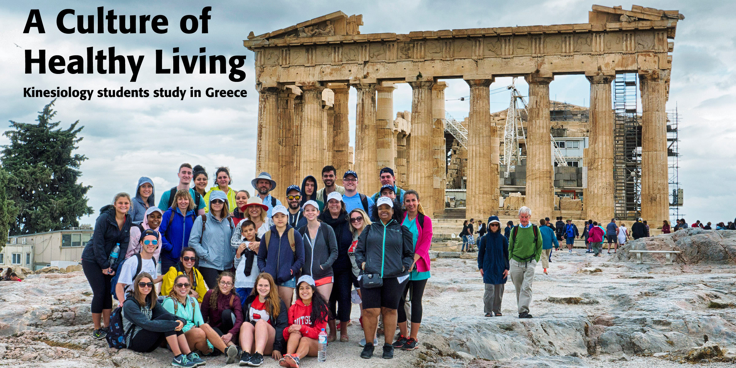 Kinesiology students study in Greece