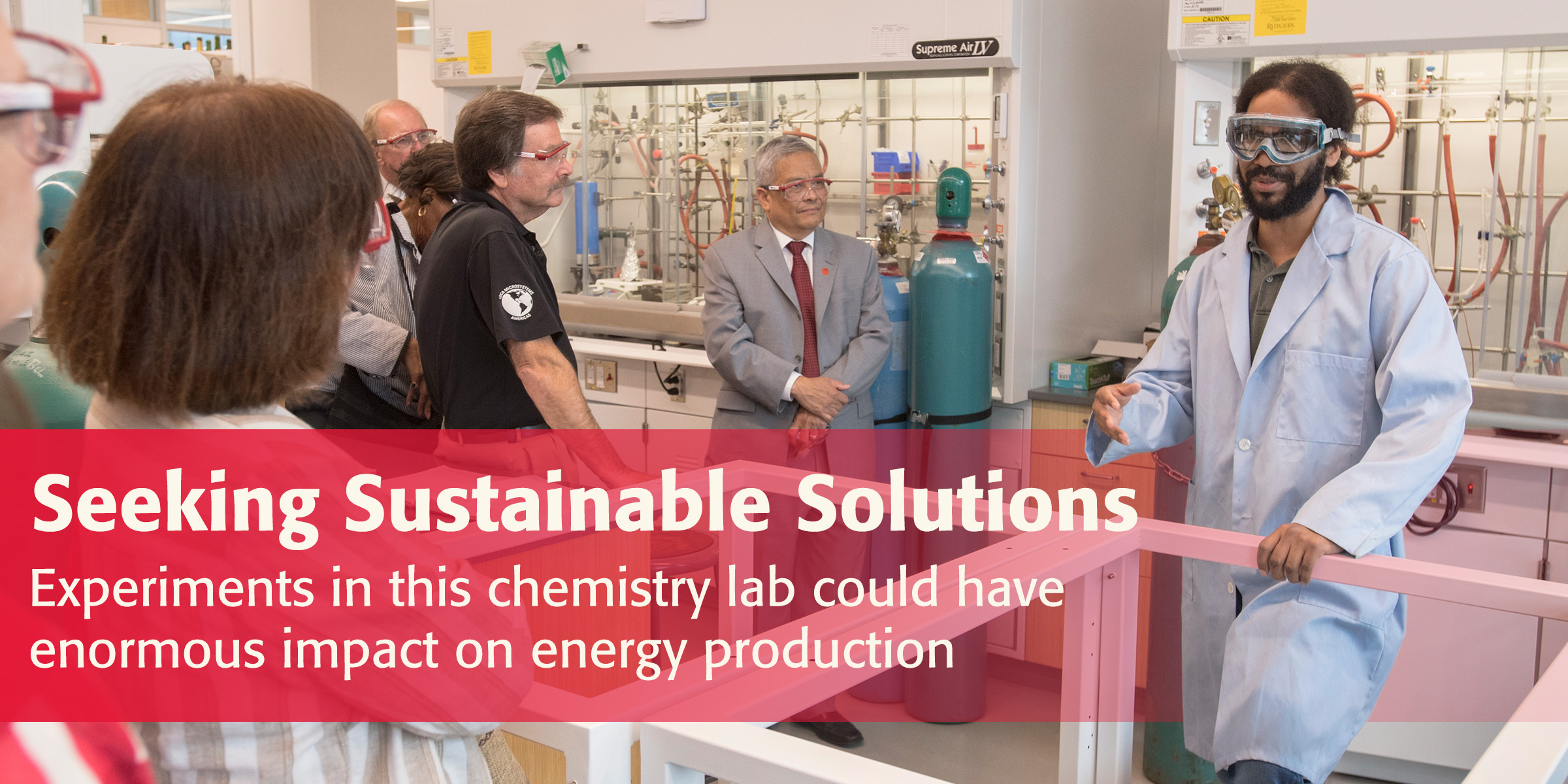 Seeking Sustainable Solutions: Experiments in this chemistry lab could have  enormous impact on energy production