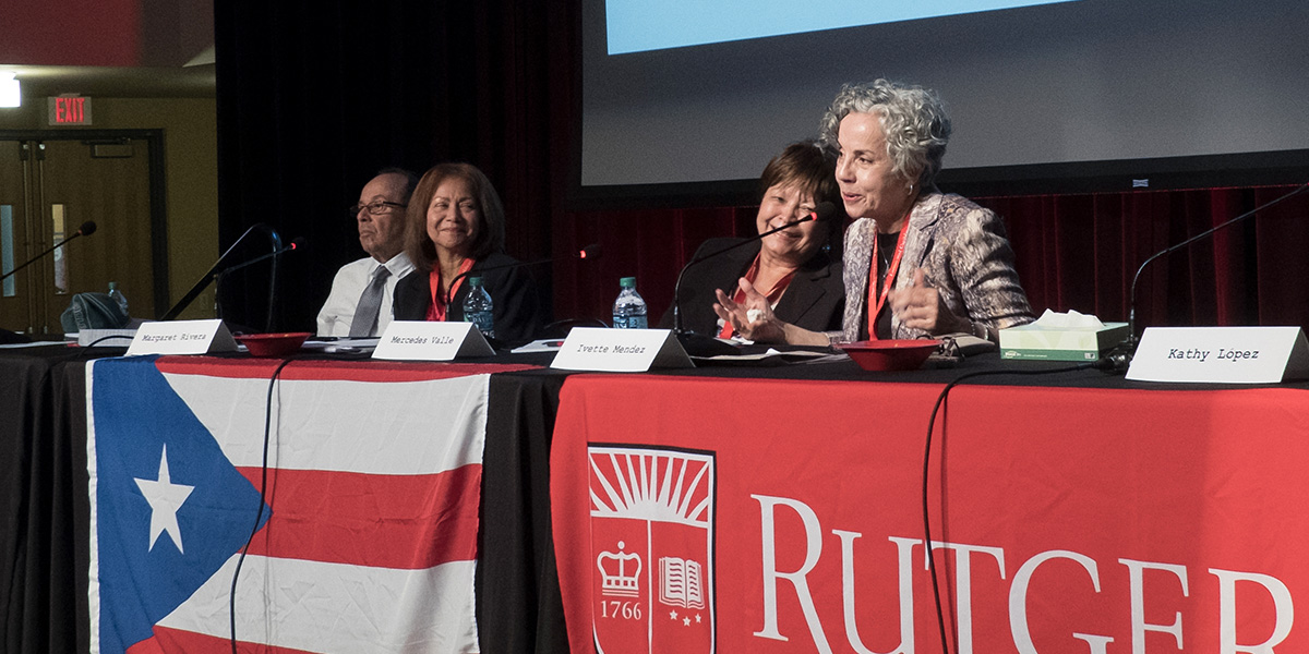 "Panelists at the ""Remembering the Rutgers Puerto Rican Student Movement of the 1970s"" Conference"
