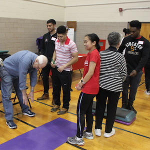 Life Science Students Host Exercise and Aging with Elders