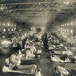 Patients during the 1918 Spanish flu pandemic