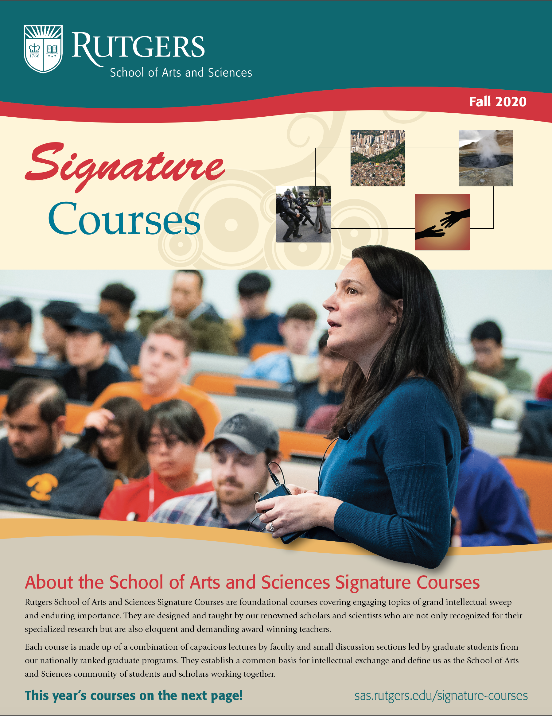 Spring 2020 Signature Courses Brochure cover