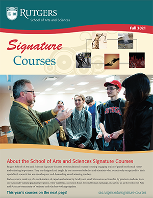 Fall 2021 Signature Courses Brochure cover