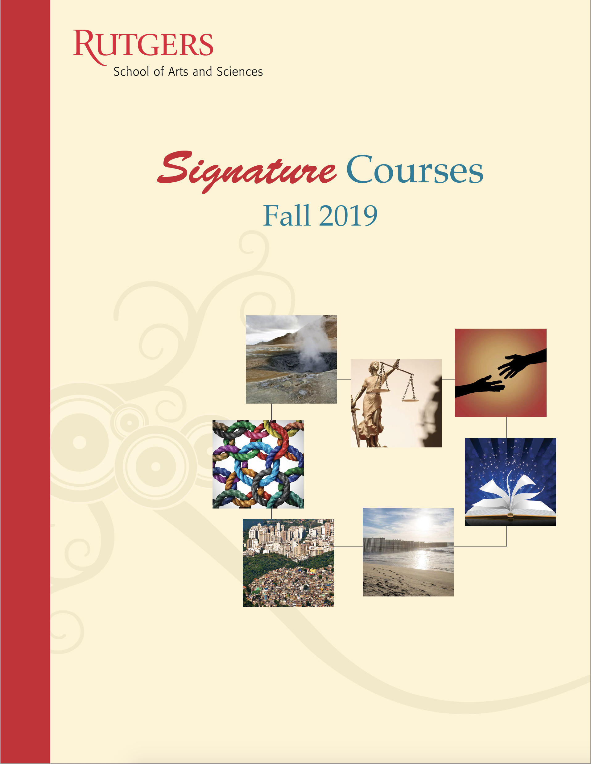 Fall 2019 Signature Courses Booklet cover